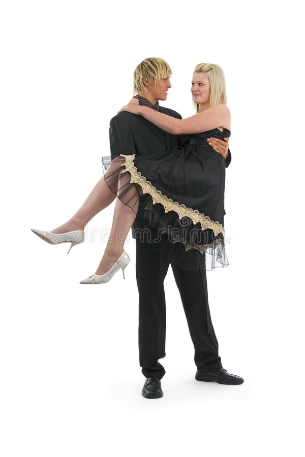 Download Man with woman in arms. stock image. Image of expression - 10820517