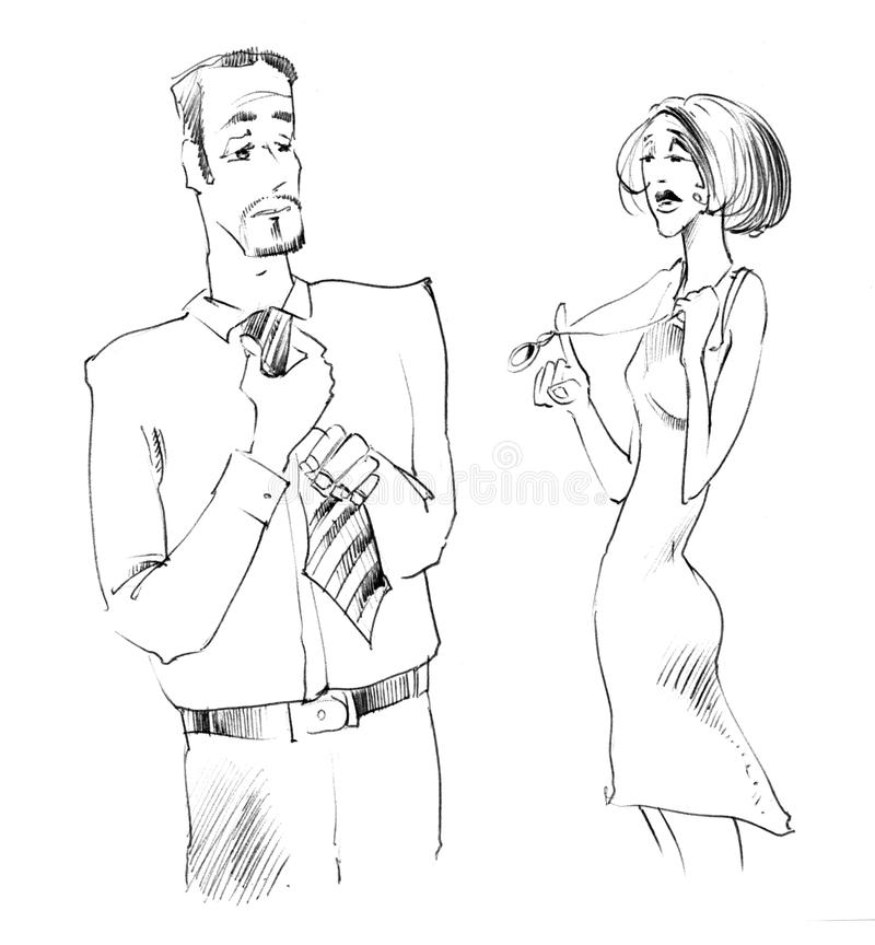 Download Man And Woman Body Language Stock Illustration - Image: 21770587