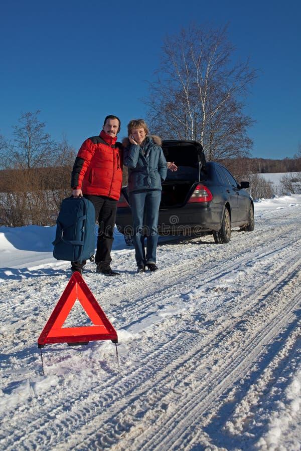 Download Man And Woman Broken Down Car Stock Image - Image: 18128807