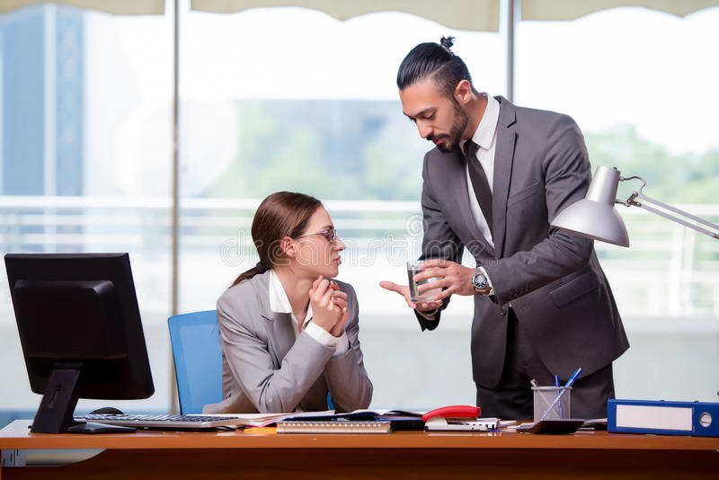 The man and woman in business concept royalty free stock photography
