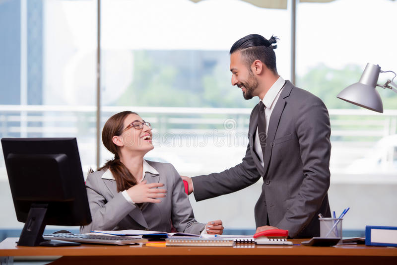 The man and woman in business concept royalty free stock photos