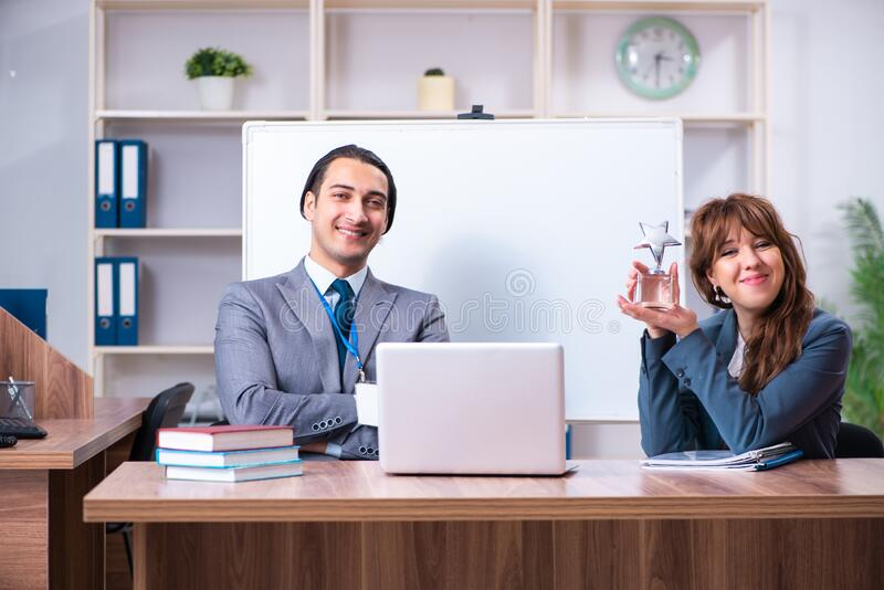 Man and woman in business meeting concept royalty free stock image