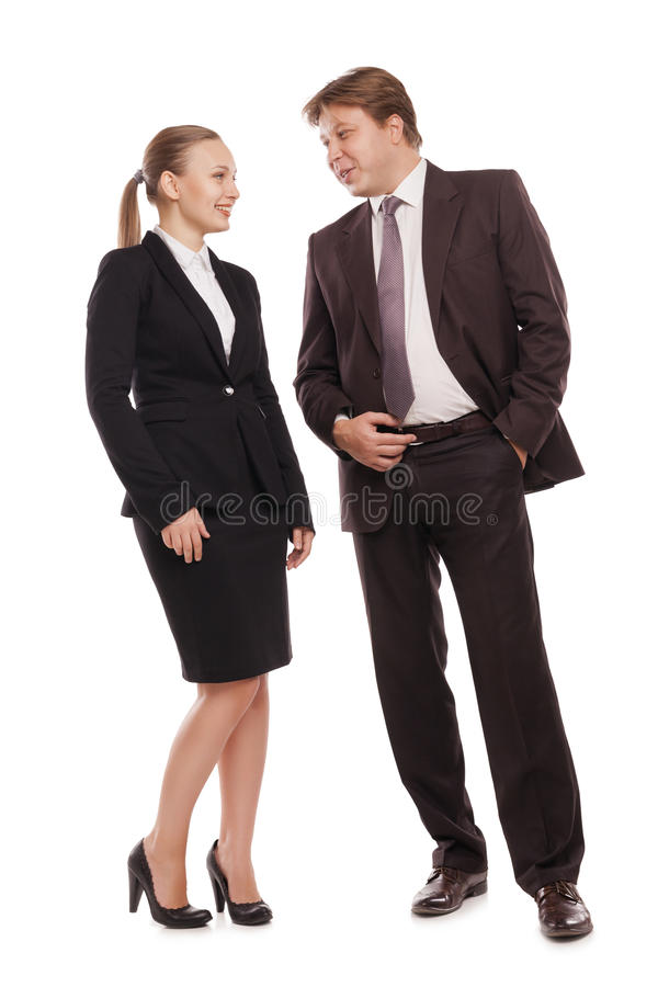 Man and woman chatting. royalty free stock photo