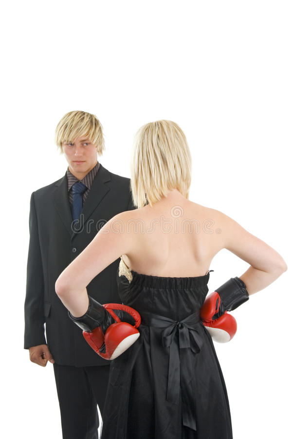 Man And Woman Conflict. Royalty Free Stock Photo