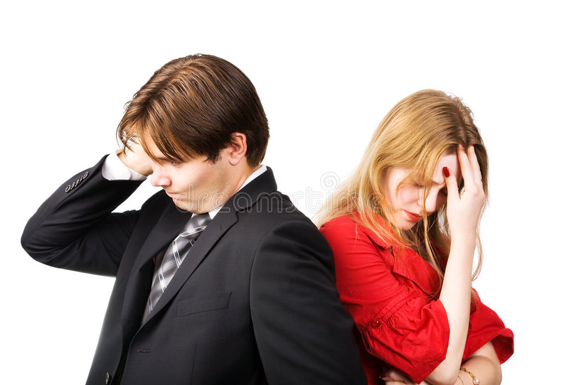 Download Man and woman conflict stock photo. Image of pensive, arguing - 6566816