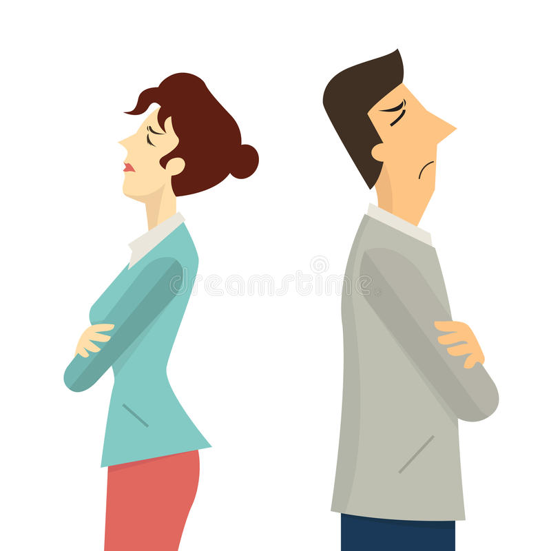 Man and woman conflict vector illustration
