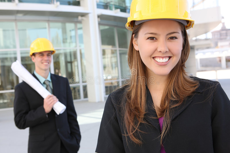 Man and Woman Construction royalty free stock photo
