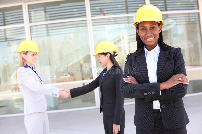 Man and Woman Construction Team stock image