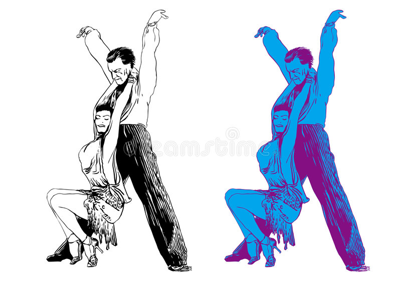 Download Man and the woman dance stock vector. Image of ballroom - 6633025