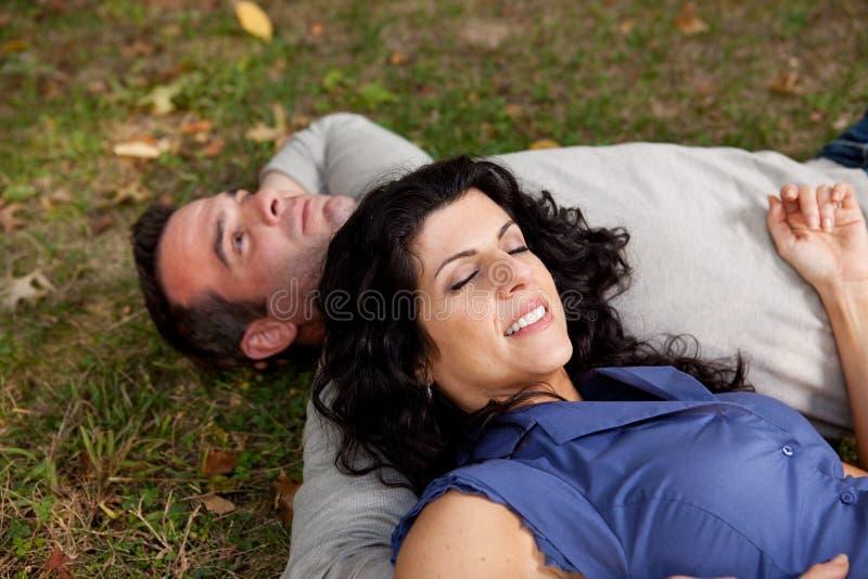 Man Woman Daydream stock image