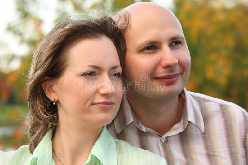 Download Man And Woman In Early Fall Park. Royalty Free Stock Images - Image: 13020839