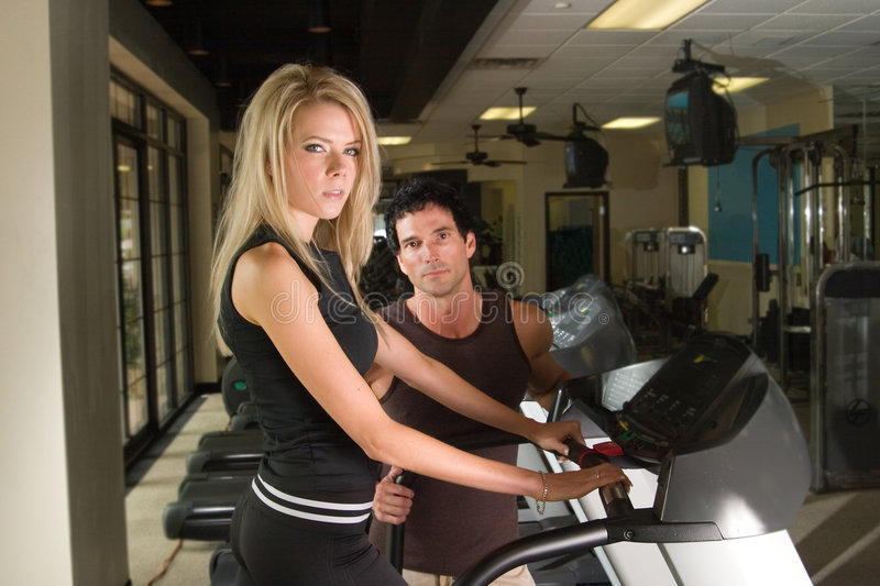 Download Man And Woman Exercising 4 stock photo. Image of attractive - 2574590
