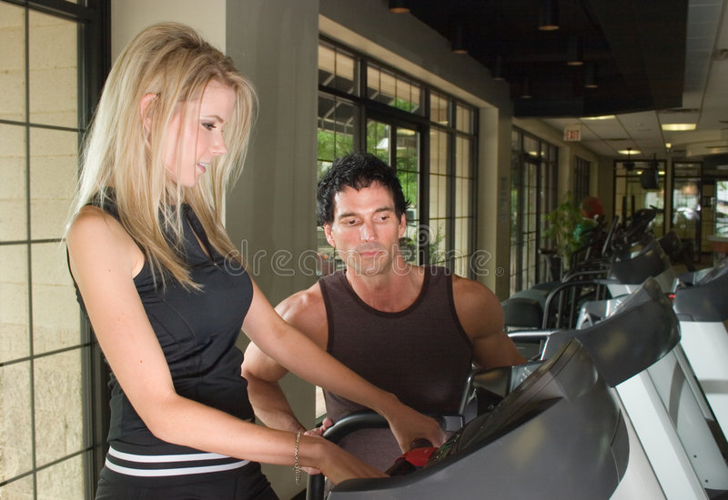 Man And Woman Exercising 6 Stock Images