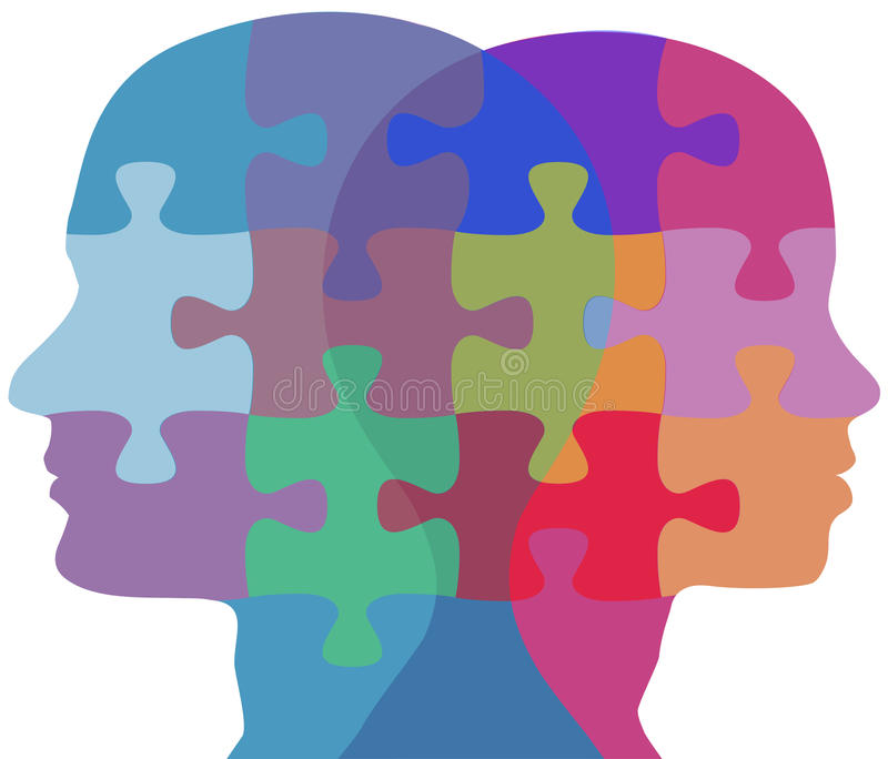 Download Man Woman Face People Problem Puzzle Stock Vector - Image: 22014119