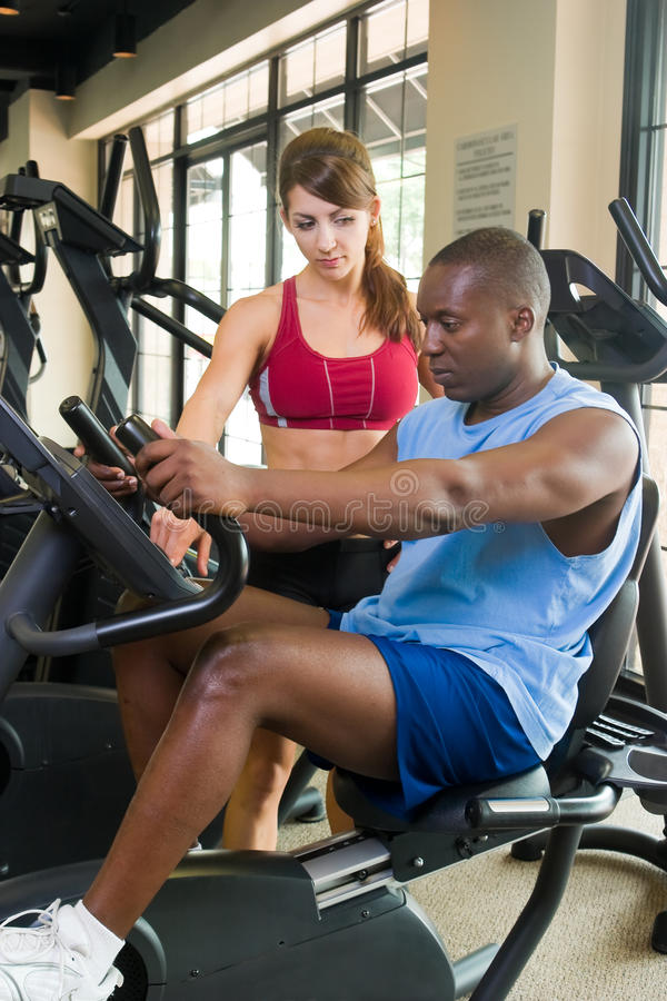 Man And Woman Fitness Exercise royalty free stock photos