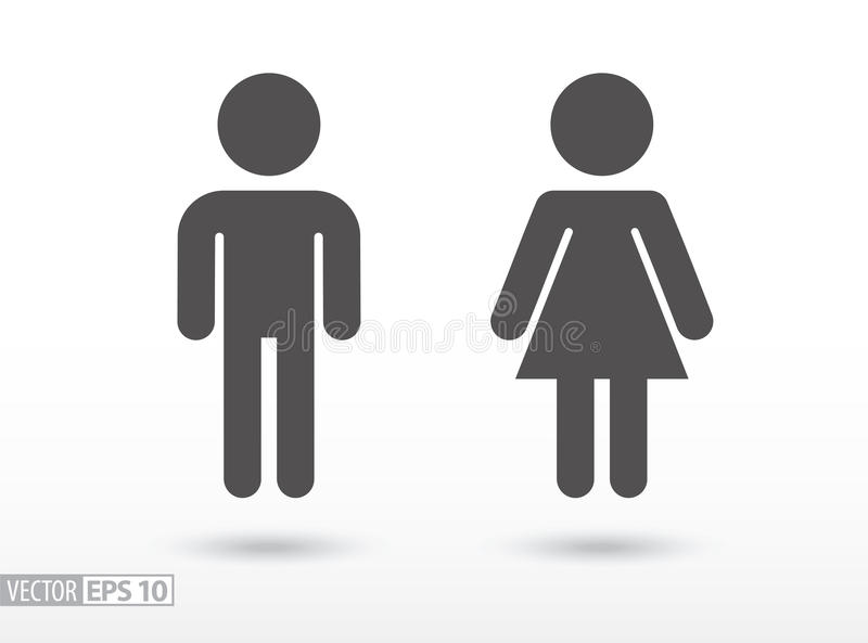 Man and woman - flat icon vector illustration