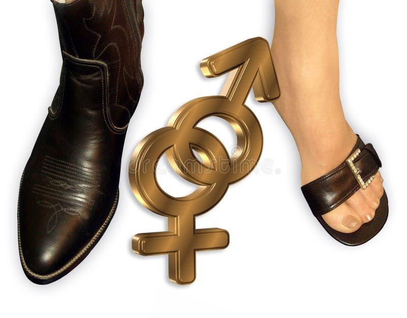 Download Man Woman gender symbols stock illustration. Illustration of male - 6089873