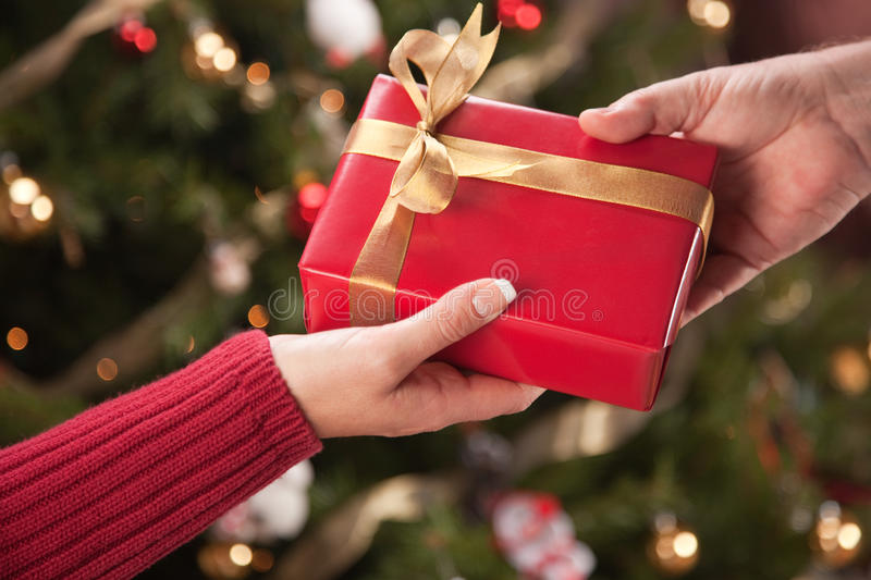 Man and woman gift exchange stock photo image of perfect for Mens gift exchange idea
