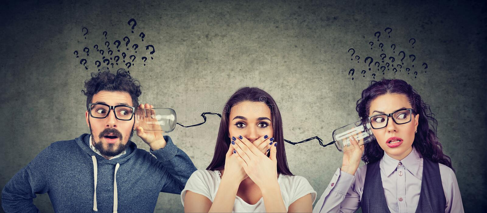 Man and woman having troubled communication royalty free illustration