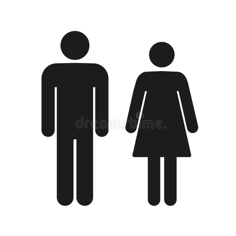 Man and woman icon on isolated background. Modern flat pictogram. Simple flat symbol for web site design. – royalty free illustration