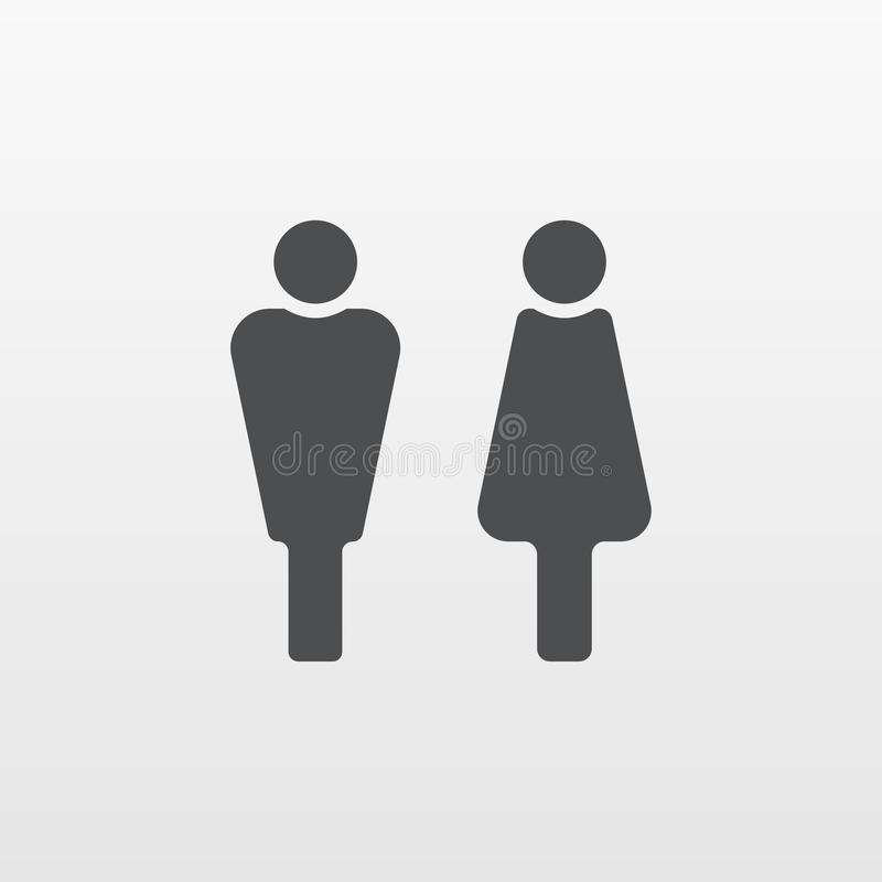 Man and Woman icon vector. Flat person symbol isolated on white background. Trendy internet concept. royalty free illustration