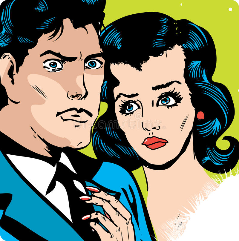 Download Man and woman love couple stock illustration. Illustration of girlfriend - 19024075