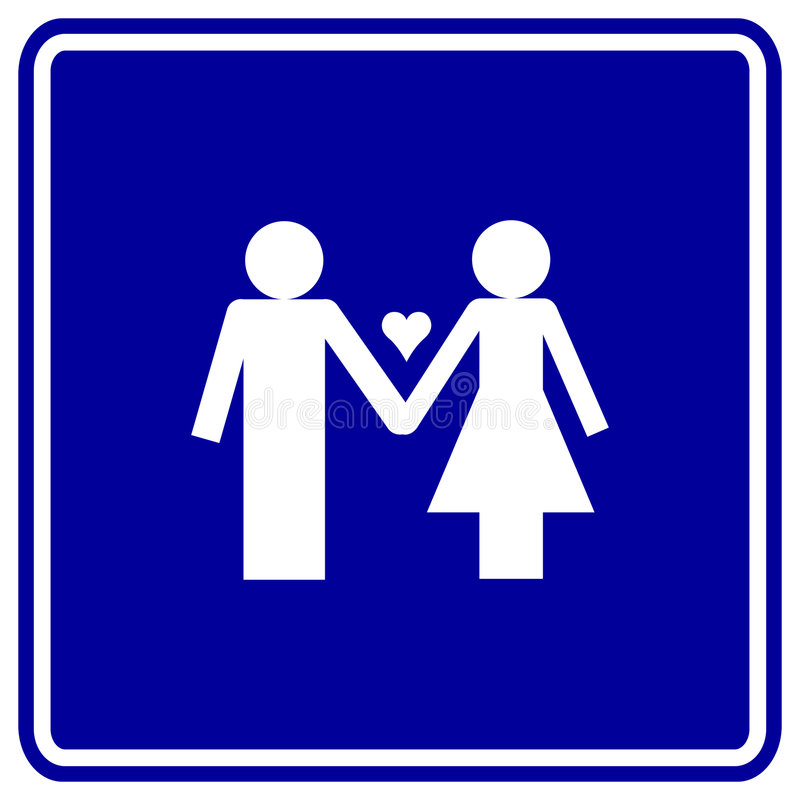 Download Man And Woman In Love Vector Sign Stock Vector - Image: 5079325