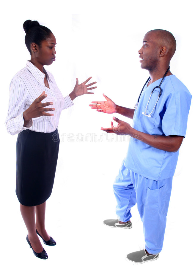 Man and Woman Medical Field. African American Man and Woman Medical Workers stock photography
