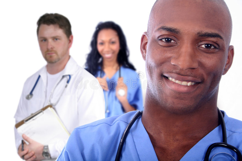 Man and Woman Medical Field stock photo