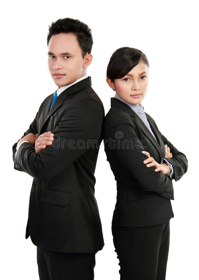 Download Man And Woman Office Worker Smiling Stock Image - Image: 24097485