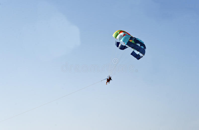 Download Man Woman Paragliding Blue Sky India Stock Photo - Image: 19484732