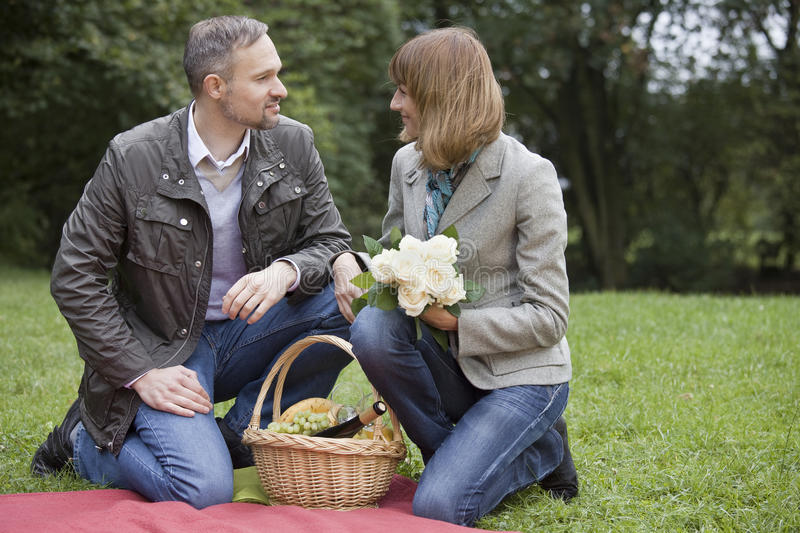 Download Man And Woman By Picnic Stock Photo - Image: 10823110