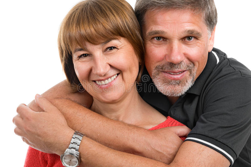 Man and woman. Portrait of a beautiful happy adult couples stock photos