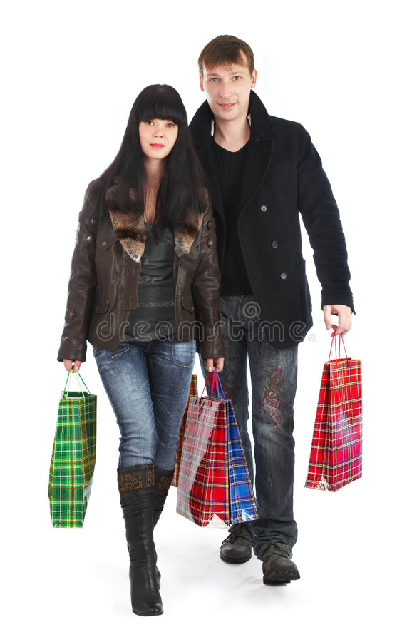 Download The Man And The Woman - Shopping Stock Photo - Image: 3777702