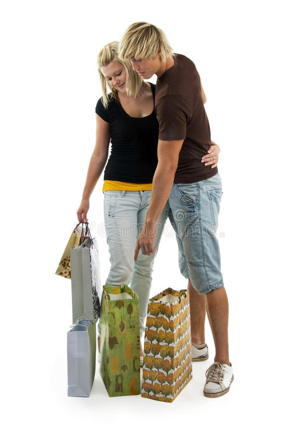 Download Man And Woman On Shoppings. Stock Photo - Image: 10743664