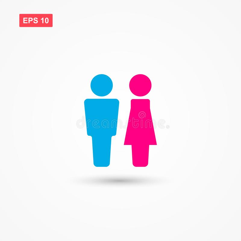 Man and woman sign icon vector 2 royalty free illustration