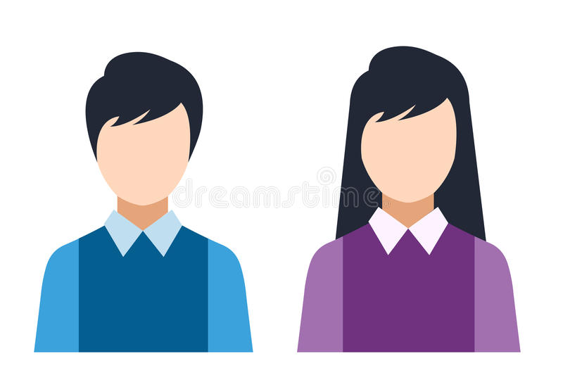 Man and woman silhouette icons vector illustration