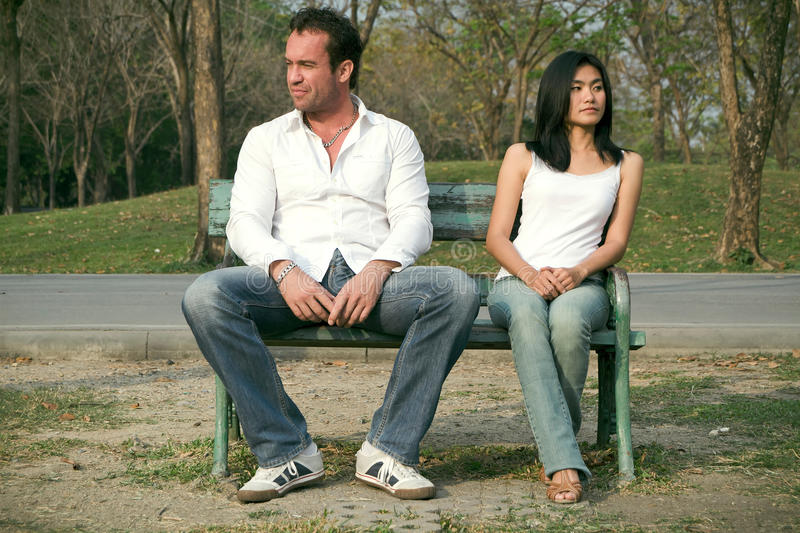 Download Man And Woman Sitting On A Chair Stock Image - Image: 17977355