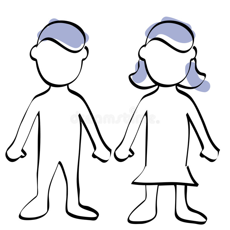 Download Man and woman symbol stock illustration. Illustration of cyan - 5532888