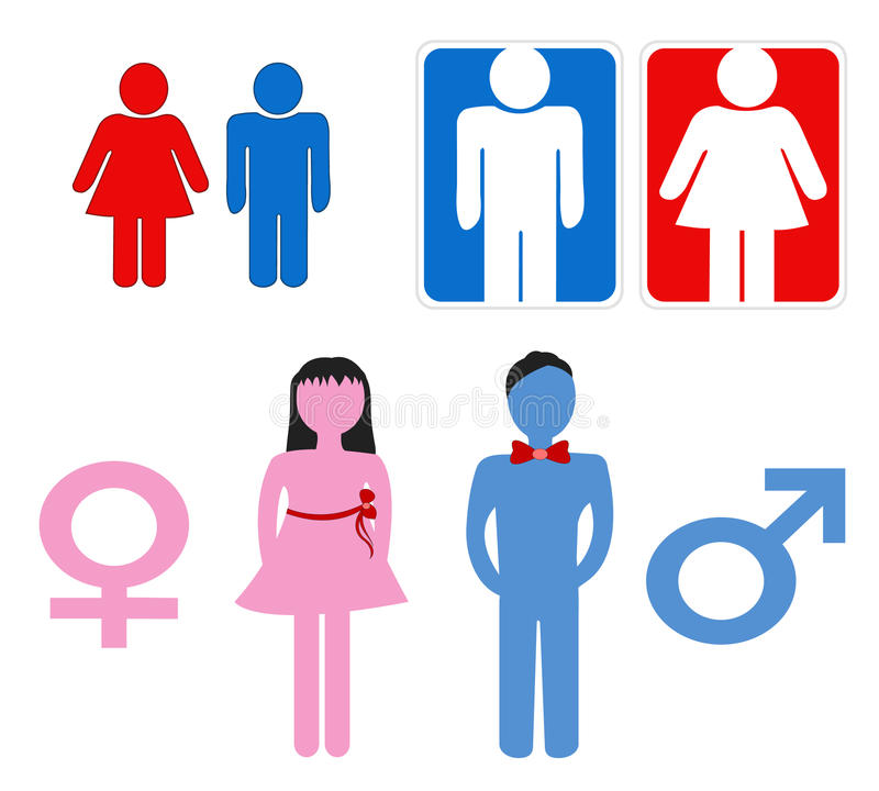 Download Man and woman symbols stock illustration. Illustration of various - 12167483