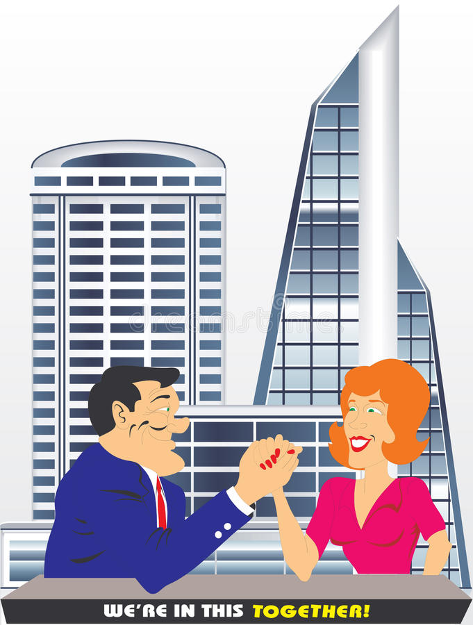 Download Man and woman are teamwork stock vector. Image of corporate - 20467126