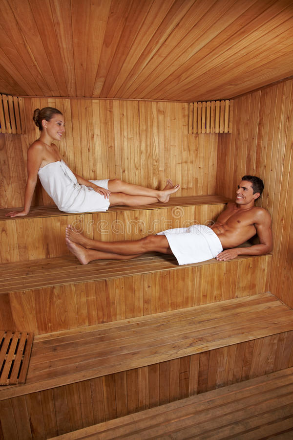 Download Man And Woman Together In Sauna Stock Photo - Image: 24940386