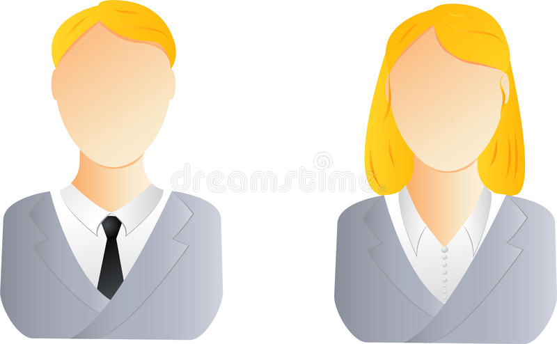 Download Man and woman user icon stock vector. Illustration of office - 11513839