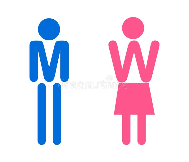 Man and woman vector icon. vector illustration
