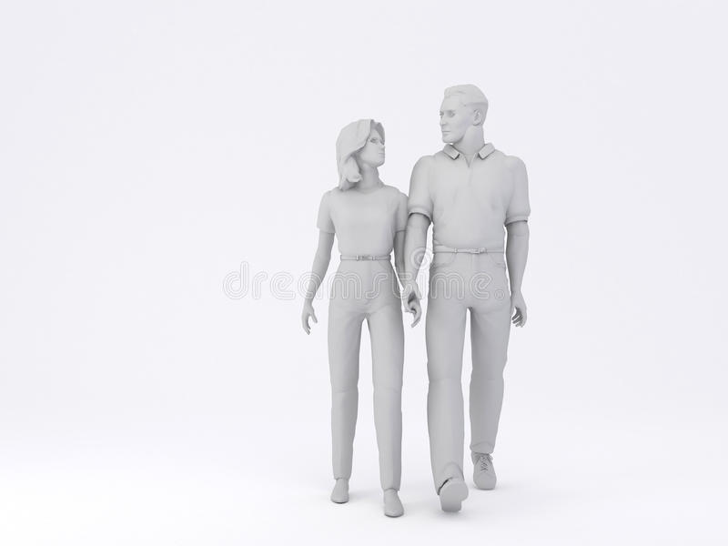Man & Woman Walking Stock Photos