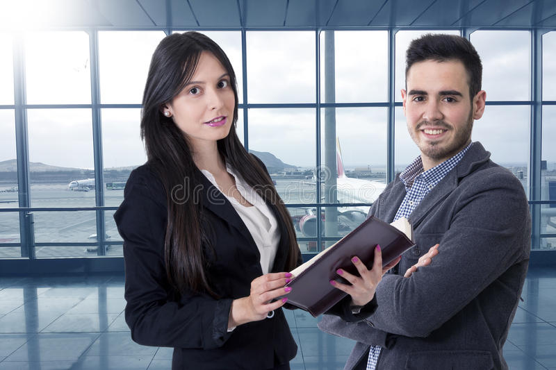 Man and woman of business stock photography