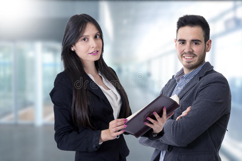 Man and woman of business stock image