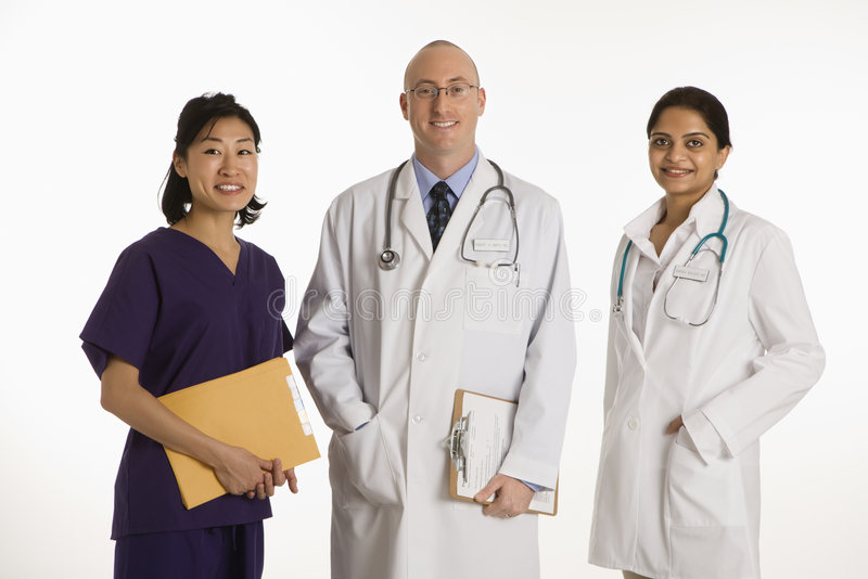Download Man And Women Doctors. Stock Photo - Image: 2431990