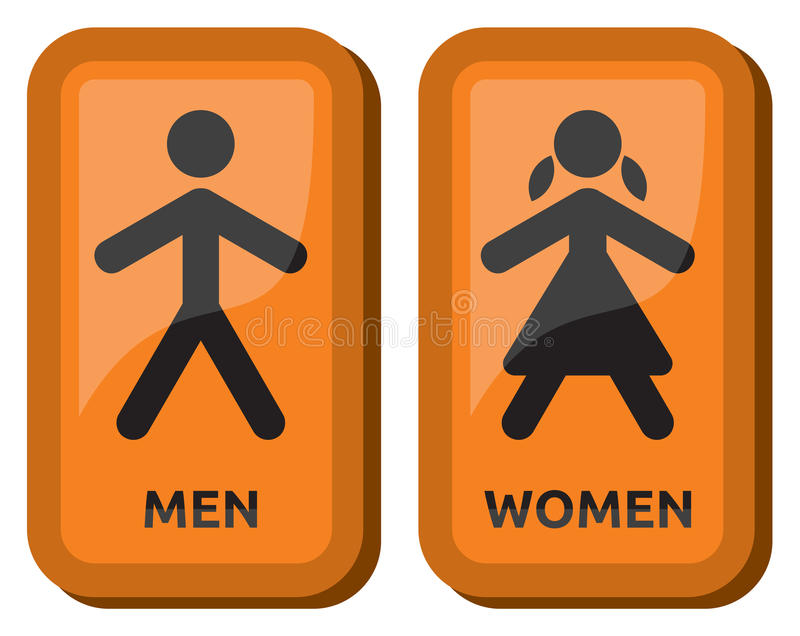 Man and women restroom sign royalty free illustration