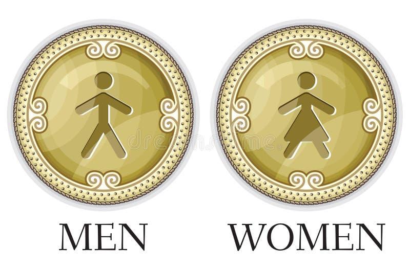Man and women restroom sign vector illustration